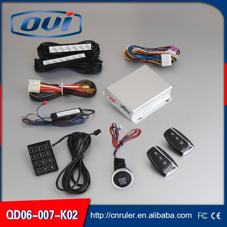 RFID Car alarm super engine start stop PKE keyless entry automatic lock / unlock security car alarm