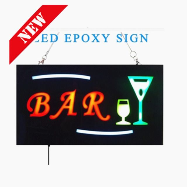 2016 NEW LED Shop Open Signs Bar Business LED OPEN SIGN Animated Motion DISPLAY +On/Off Switch Bright Light neon