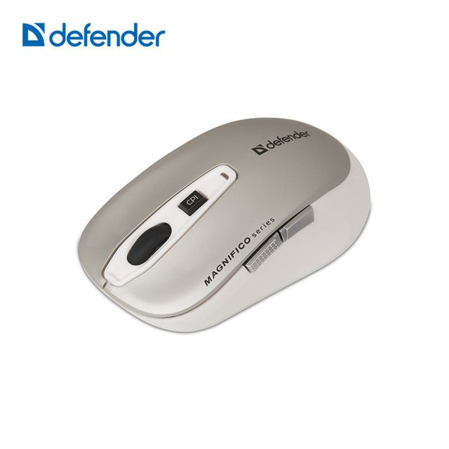 Defender Magnifico MB-535 Gray Wireless IR-laser Mouse 6 buttons 1000-2000 dpi More Button More Convenient for works/Games