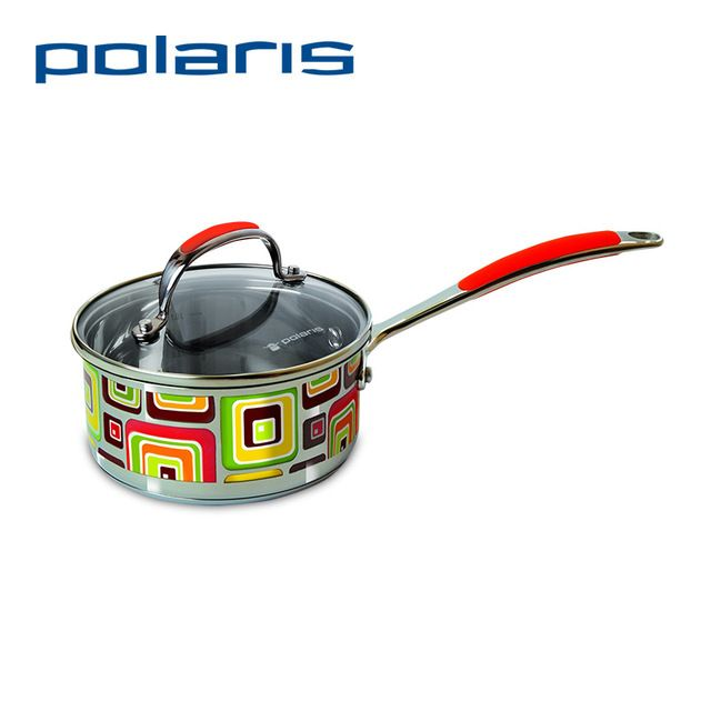 Polaris Fresh Line 16SP 1.5L Pan From Stainless Steel and Glass Cover Frying Pans & Skillets with Cover