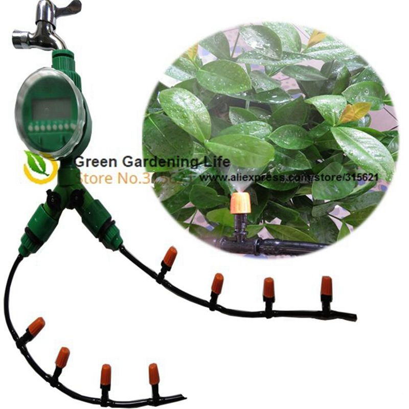 4/7MM 20M Greenhouse Irrigation Aystem Atomizer Automatic Irrigation System Watering Kits Micro Sprinkler