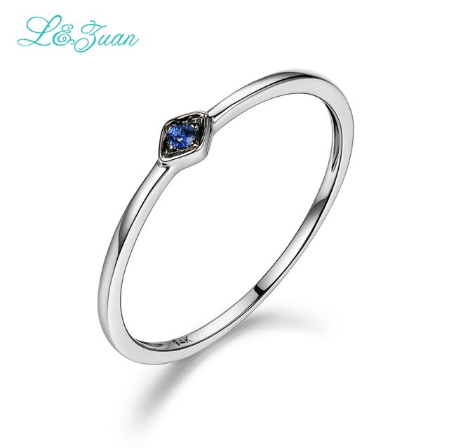 14K Gold 0.029ct Natural Sapphire Engagement Ring  Setting Trendy Top Quality Rings Jewelry For Women  Fine JewelryPalace Gift