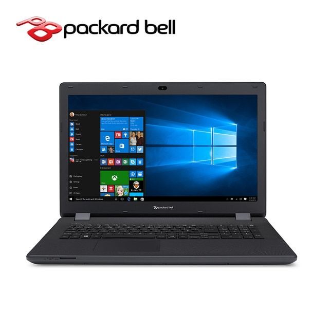 Notebook Packard Bell ENLG81BA-P8WM EasyNote 17.3 inch 500GB ROM Windows 10 system Pentium N3700 CPU 2GB RAM with  DVD Multi