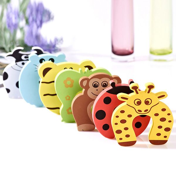 EVA Baby Kids Animal Cartoon Jammers Stop Door Stopper Holder Finger Protect Guard