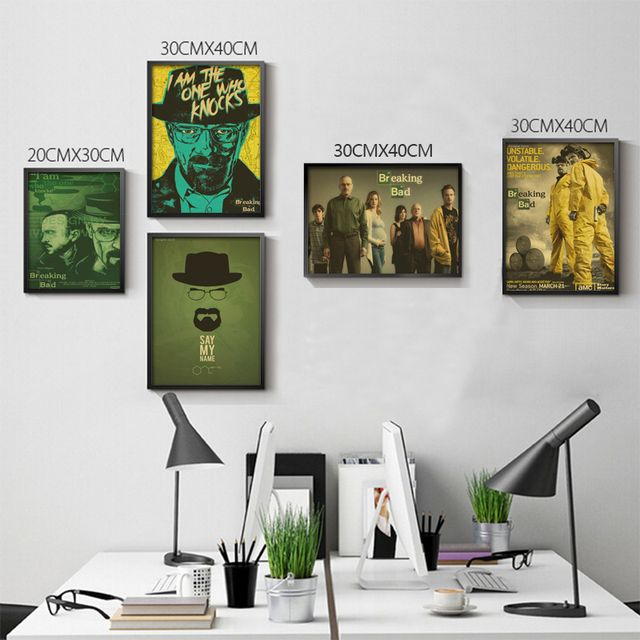 Breaking Bad Posters Movie Posters Vintage Kraft Paper Retro Wall Sticker Home Decor
