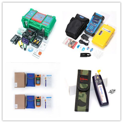 9S Splicing Fusion Splicer Kit Komshine GX37 FTTH + 1310/1550nm 32/30dB OTDR + Optical Power Meter+Visual Fault Locator/VFL