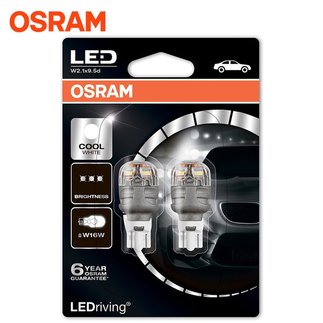 OSRAM 9213CW-02B LEDriving 2 pcs. in the set Headlight Bulbs Premium 6000K 3W 12V W 2.1 X 9.5 D5XBLI24M 6 years guarantee