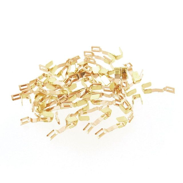 Dmiotech 50 Pcs Fc280-0.08A Gold Tone Carbon Brush Holder For Fc280 Motor