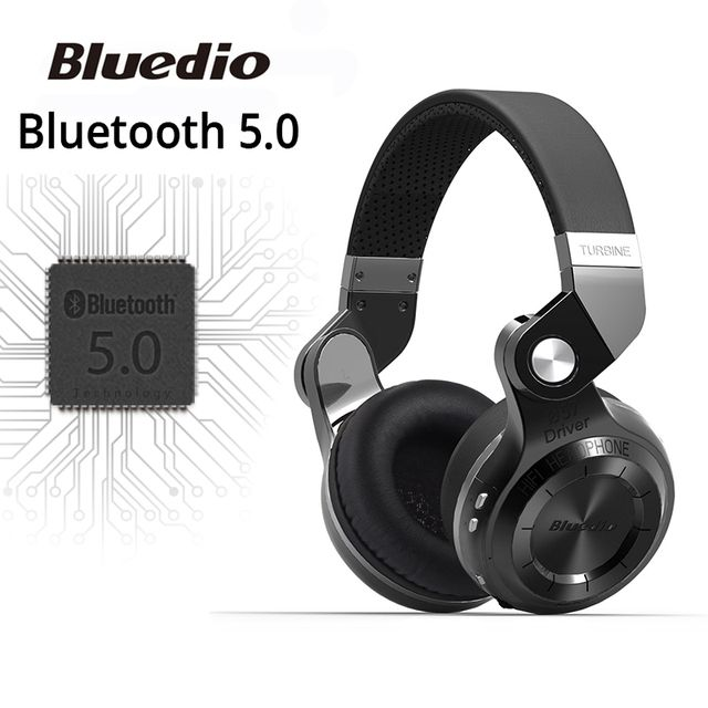 Original Bluedio T2S bluetooth headphones with microphone wireless headset bluetooth for Iphone Samsung Xiaomi headphone