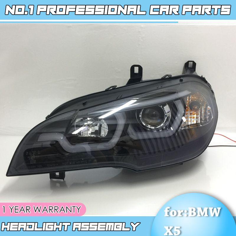 EBT US $896.65 car accessories for BMW X5 e70 2007-2013 Headlight for BMW X5 Head Lamp Auto LED DRL Double Beam H7 HID Xenon bi xenon lens