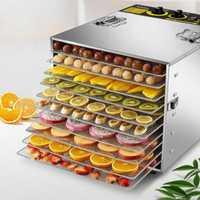 Deshidratadores de alimentos de acero inoxidable para el hogar máquina de frutas secas secador de aire deshidratación de frutas y verduras Pet 10 capas secador de alimentos