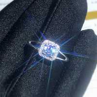 La dureza de Moissanite 0.5ct 9,3, sustitutos de diamante, se puede probar mediante instrumentos. Joyería Popular