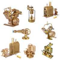 Microcosm, Mini motor de vapor de cobre puro, modelo de juguete, juego de regalo creativo con o sin Caldera, decoración del hogar, regalo de cumpleaños