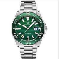 Relojes de lujo de marca de diseño PAGANI para hombre, reloj negro automático, reloj mecánico de acero inoxidable, resistente al agua, deporte de negocios