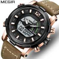 Relojes para hombre, marca de lujo, reloj deportivo de doble pantalla para hombre, reloj de pulsera Digital a prueba de agua, analógico