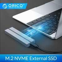 Disque dur externe ORICO SSD 1 to 128 go 256 go 512 go SATA mSATA NVME disque dur externe SSD Portable avec USB 3.1 de Type C