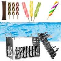 40 Uds. Palitos de helado de acero inoxidable molde de Popsicle soporte de verano moldes hogar DIY molde de paleta de hielo molde de hielo fácil de limpiar