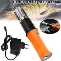 Útil mano de escala de peces cepilladora piel de pescado cepillo eléctrico escalador de pescado rápido eliminar descalcificador rasqueta a prueba de agua utensilios para marisco