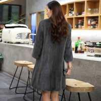 Abrigo de piel de visón natural Invierno cálido grueso largo doble cara chaqueta de piel Casaca Para Mujer Invierno 2020 AR16D16015 MF376