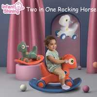 Infantile brillant enfants Animal 2in1 chevaux à bascule bébé jouet cheval 1-6 ans équilibre multi-fonctionnel enfants jouets d'intérieur cadeau