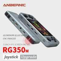 ANBERNIC RG350M rétro jeux en alliage d'aluminium IPS écran PS1 famille cadeau jeux vidéo console émulateurs lecteur de jeu de poche RG351