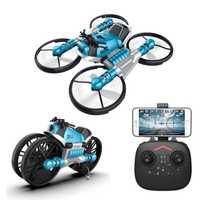 2 en 1 déformation RC moto pliante 2.4G WIFI télécommande moto pliante 4 axes 0.3MP WiFi caméra Drone