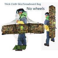 136-166cm sac de snowboard/sac à skis vêtements toutes les choses sac/sac à dos bandoulière ceinture rembourré épais coussin camouflage A5112