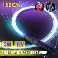 La Fiber optique de 3W lumière LED allume DC12V 40 modes 150cm fouet optique de Fiber lumière LED ing longue durée de vie de lampe éclairage d'ambilight