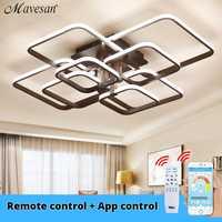 Luces de techo acrílicas anillos cuadrados para sala de estar dormitorio hogar AC85-265V modernos accesorios de lámpara de techo Led lustre plafonnier