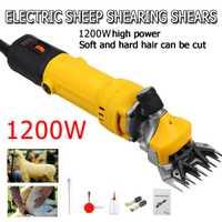 1200W 110V/220V 6 engranajes velocidad eléctrica oveja cabra cizalla máquina cortadora granja tijeras de lana máquina de corte