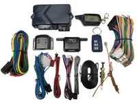 Système d'alarme de voiture bidirectionnelle Version russe avec démarrage du moteur boîtier porte-clé télécommandé LCD pour B9 avec cadeau de couverture en silicone