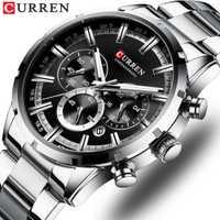 Reloj CURREN para hombre, marca superior, relojes de cuarzo deportivos de lujo para hombre, reloj de pulsera cronógrafo de acero a prueba de agua, reloj de pulsera para hombre