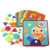 Rompecabezas para niños juguete seta engranaje geometría forma rompecabezas desarrollo intelectual creativo tabla para combinar aprendizaje para niños