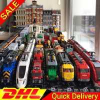 LP 02008 02010 02009 21005 21006 21007 02038 02039 02117 02118 lelepins Train Buillding Blocs Briques Clone 60052 60098 60051