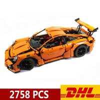 20001 20001B 2758 pièces Technic voiture de sport voiture de course 911 GT3RS modèle blocs de construction compatibles Legoings 42056 jouets cadeau de noël