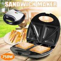 Máquina Eléctrica multifunción para hacer sándwiches de huevos, Mini parrilla para pan, Waffle, crepé, tostadora, panqueque, máquina para hornear el desayuno, 750W
