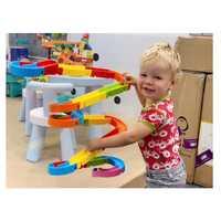 Bloques de carreras de partículas grandes, bloques de laberinto, pista resbaladiza, bloques de construcción, juguetes educativos para niños