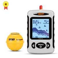 Lucky FFW718 y FFW718LA inalámbrico portátil buscador de peces 45 M/135FT Sonar profundidad sirena alarma océano río lago