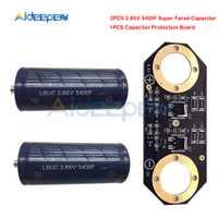 2 unid/set condensador Super Farad 2,85 V 3400F 145*60mm baja ESR alta frecuencia Ultracapacitor módulo automotriz con la Junta de Protección