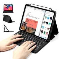 Étui clavier pour iPad Pro 11 / 12.9 2018, WOWCASE Bluetooth Couverture de chargement mince pour tablette à chargement magnétique pour iPad 2018 Clavier pour iPad Pro 11/12.9 3e génération avec porte-crayon Heavy Duty