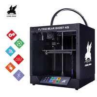 2019 populaire Flyingbear-Ghost4S imprimante 3d plein métal cadre kit de bricolage avec couleur écran tactile cadeau SD expédition de la russie
