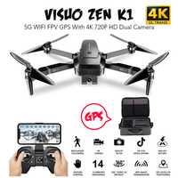 VISUO ZEN K1 5G WIFI FPV Drone GPS avec 4K 720P HD double caméra 30 minutes de temps de vol sans brosse pliable RC quadrirotor VS XS812 F11