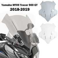 Pare-brise de moto pour Yamaha MT09 MT-09 MT 09 traceur 900 GT FJ09 2018 2019 déflecteurs de vent à Double bulle