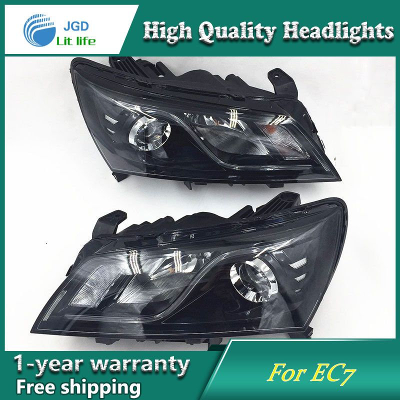 XME US $337.25 Car Styling Head Lamp case for GEELY Emgrand 7 EC7 EC715 2014-2016 Headlights LED Headlight DRL Lens Double Beam Bi-Xenon HID