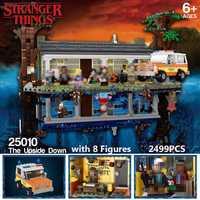2499 pièces 75810 legoinglys étranger choses tournant le monde à l'envers blocs de construction briques ensemble enfants jouets jouets de noël