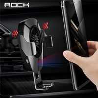 Chargeur sans fil ROCK avec capteur infrarouge QI charge rapide pour iPhone XR XS MAX Huawei Mate 20 Pro Samsung voiture support pour téléphone
