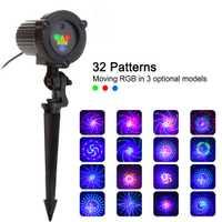 32 rvb noël projecteur de lumière Laser jardin extérieur étanche DJ Laser arbre de noël Villa maison vacances lumières