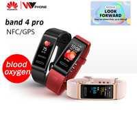 Huawei Band 4 pro SmartBand moniteur de santé de fréquence cardiaque autonome GPS surveillance de santé Proactive SpO2 oxygène sanguin