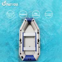 Bote inflable de remo de alta densidad Material de PVC pesca profesional a la deriva bote de rescate