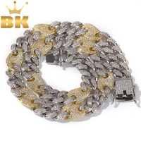 Collares de joyería de Hiphop de moda de Color plateado y Dorado con cadenas de eslabones cubanas los hombres